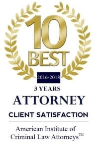 10 Best Award - American Institute of Criminal Law Attorneys